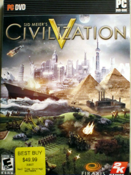 Civilization 5 Box Fresh from Best Buy